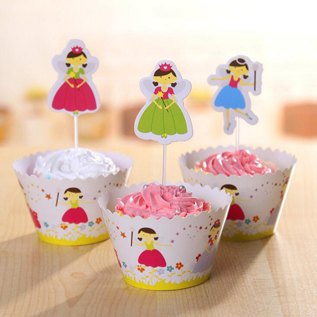 Wholesale flower fairy cupcake wrappers