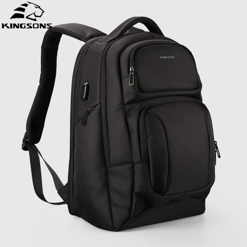 Kingsons 2018 Anti theft plecak męski biznes praca na laptopa torba podróżna moda plecak męski plecak Mochila Design w Plecaki od Bagaże i torby na  Grupa 1
