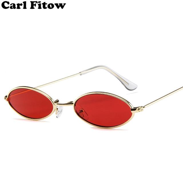 819fa124222d3e 2018 Nouvelle Marque Designer Vintage Ovale lunettes de Soleil Femmes Hommes  Rétro Objectif Clair Lunettes
