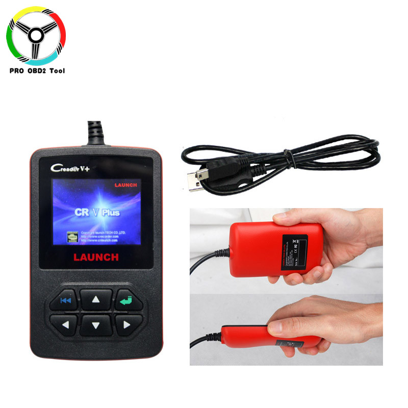 100% Original Update online CReader V Plus Launch Creader V+ OBD2 OBDII Code Scanner Launch X431 Series For Multi-brands Cars ...