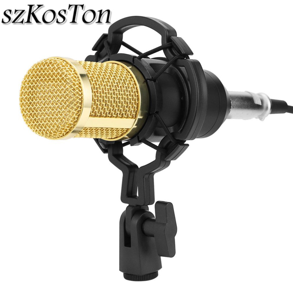 Professional Adjustable bm 800 Condenser Microphone Bundle Microphone Kit for Studio Broadcasting & Recording Karaoke Microphone professional condenser microphone bm 800 bm 800 cardioid pro audio studio vocal recording mic 48v phantom power usb sound card