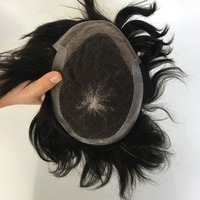 Eversilky Free Style Mens Toupee Hair Replacement Systems 100% Natural Straight Remy Human Hair Men Hair Toupee Pieces