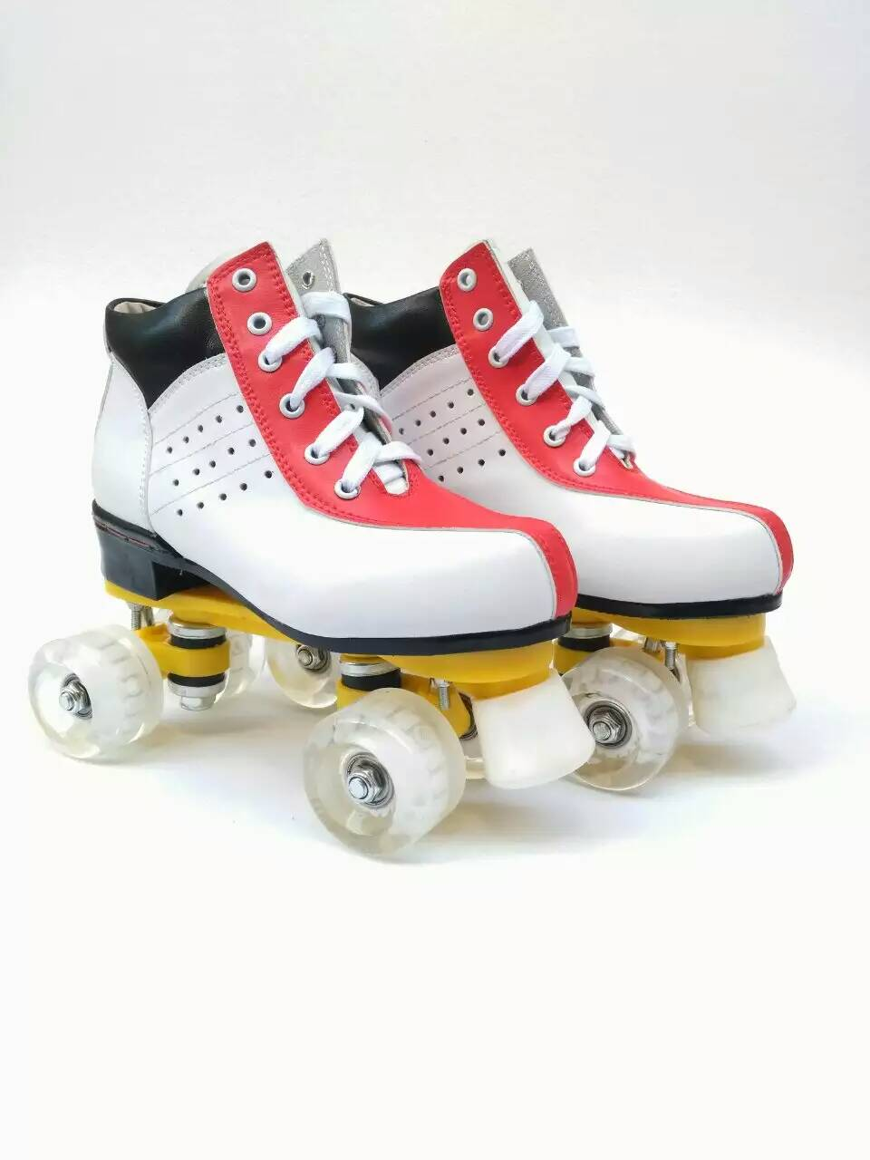 2017 New style arrival Wholesale Price 4 Wheel Speed Roller Skates Shoes free shipping