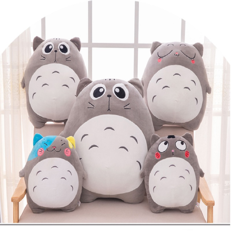icottbaby 40cm 4 Style Totoro Meme Soft Stuffed Plush Toy Kwaii Anime Totoro Large Size Pillow Kids Doll Baby Gift free shipping about 60cm cartoon totoro plush toy dark grey totoro doll throw pillow christmas gift w4704