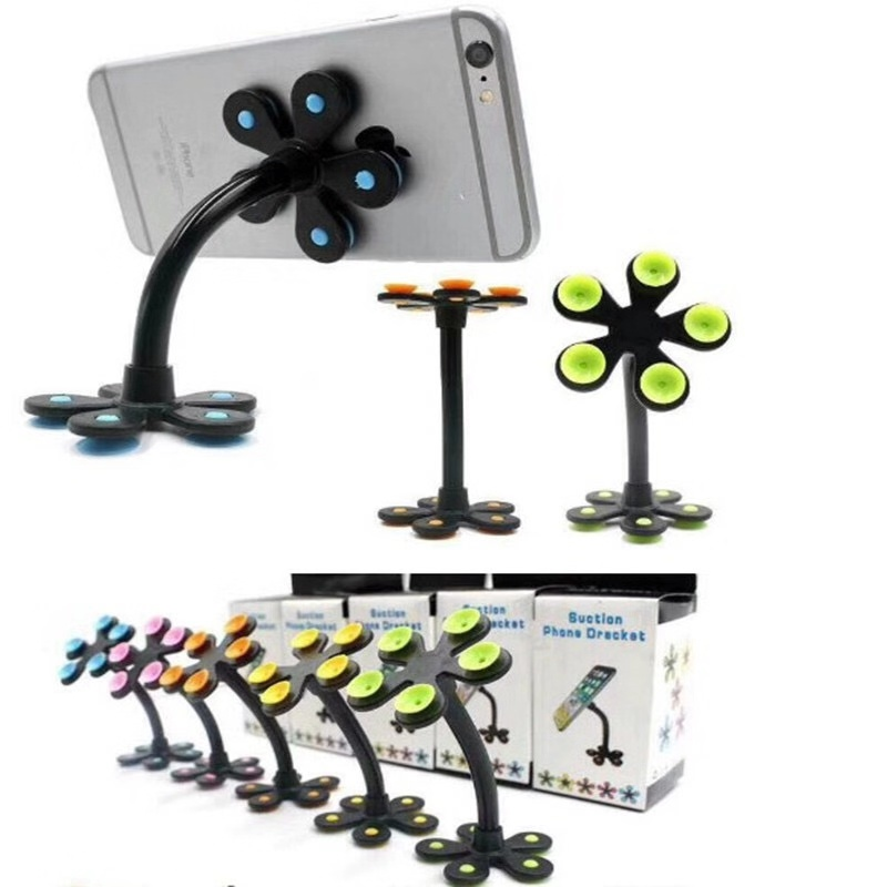 Universal Mobile Car Phone Holder Stand Cell Sucker Holder 360 Degree Adjustable for iphone 5 6 7 plus Samsung Car Mount Car phone