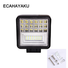 ECAHAYAKU 4 inch 126W LED Work Light Bar 3-Row Combo Motorcycle Foglights Off-road For Pickup 4WD 4x4 ATV SUV Jeep Truck