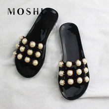 Women Beach Slippers Slip On Sandals Summer Slides String Bead Ladies  Casual Shoes Chaussure Femme( 58df7f25b776