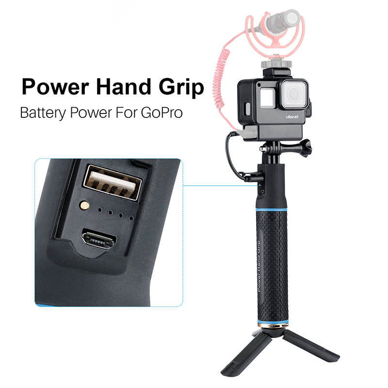 5200mAh Go Pro Power Bank Stick Battery Hand Grips for DJI action camera Gopro Hero 7 6 5 Gopro Accessories-1