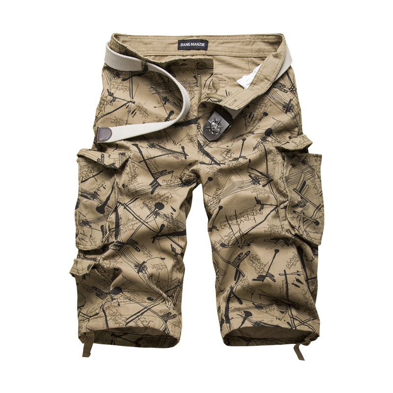 Cotton Mens Cargo Shorts 2020 Summer Fashion Camouflage Male Shorts Multi-Pocket Casual Camo Outdoors Tolling Homme Short Pants