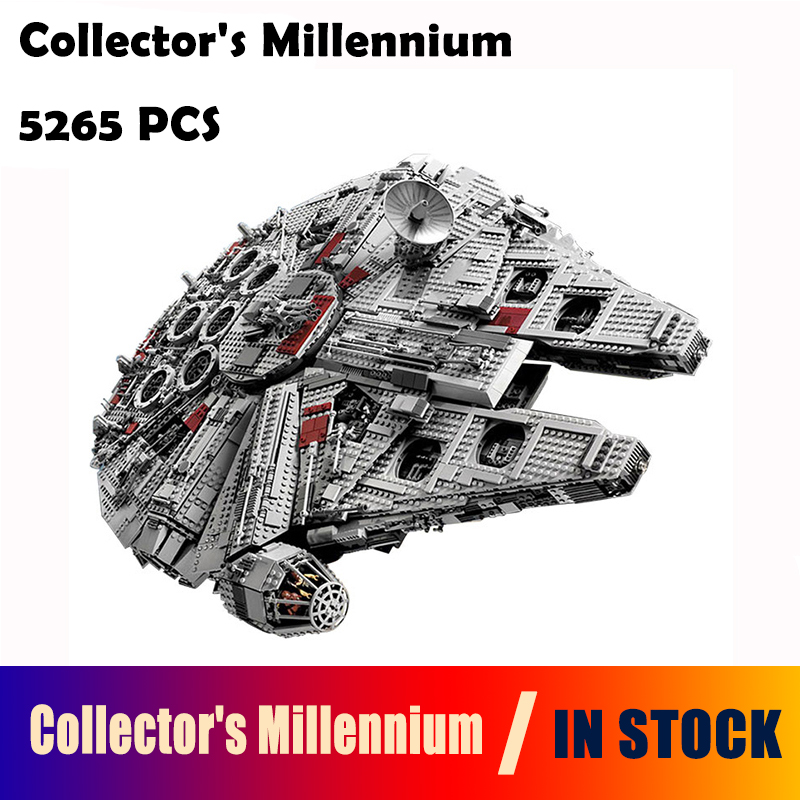 05033 Star 5265Pcs Wars Collectors Millennium Model Falcon Building Kit Blocks Bricks Toy Gift Compatible with lego 10179