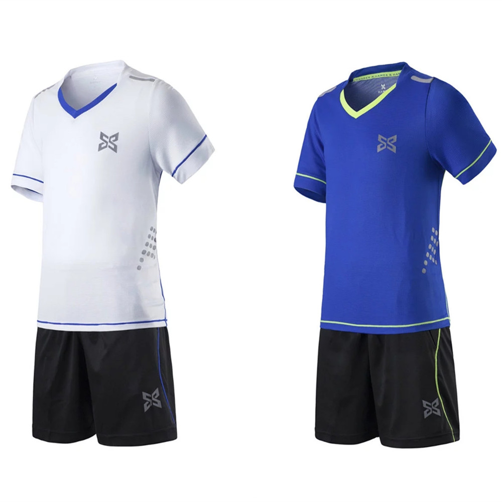 1ee4674a9 2018 Kids Boys Soccer Jerseys Uniforms Sets Short Sleeved Jersey shorts  shirts Football Kits Sports Training Suits quick dry DIY