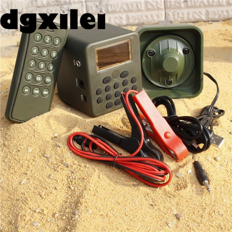 Outdoor Hunting 150dB 50W 12V Amplifier Loudness Control Speaker Quail Hunting Voice Amplificateur Voix W Remote Control xilei outdoors quail audio devices 50w 150db remote control 798b hunting bird with timer