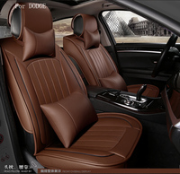 For Dodge Ram Charger Durango Journey Small Hole Ventilate Wear Resistance PU Leather Front Rear Full