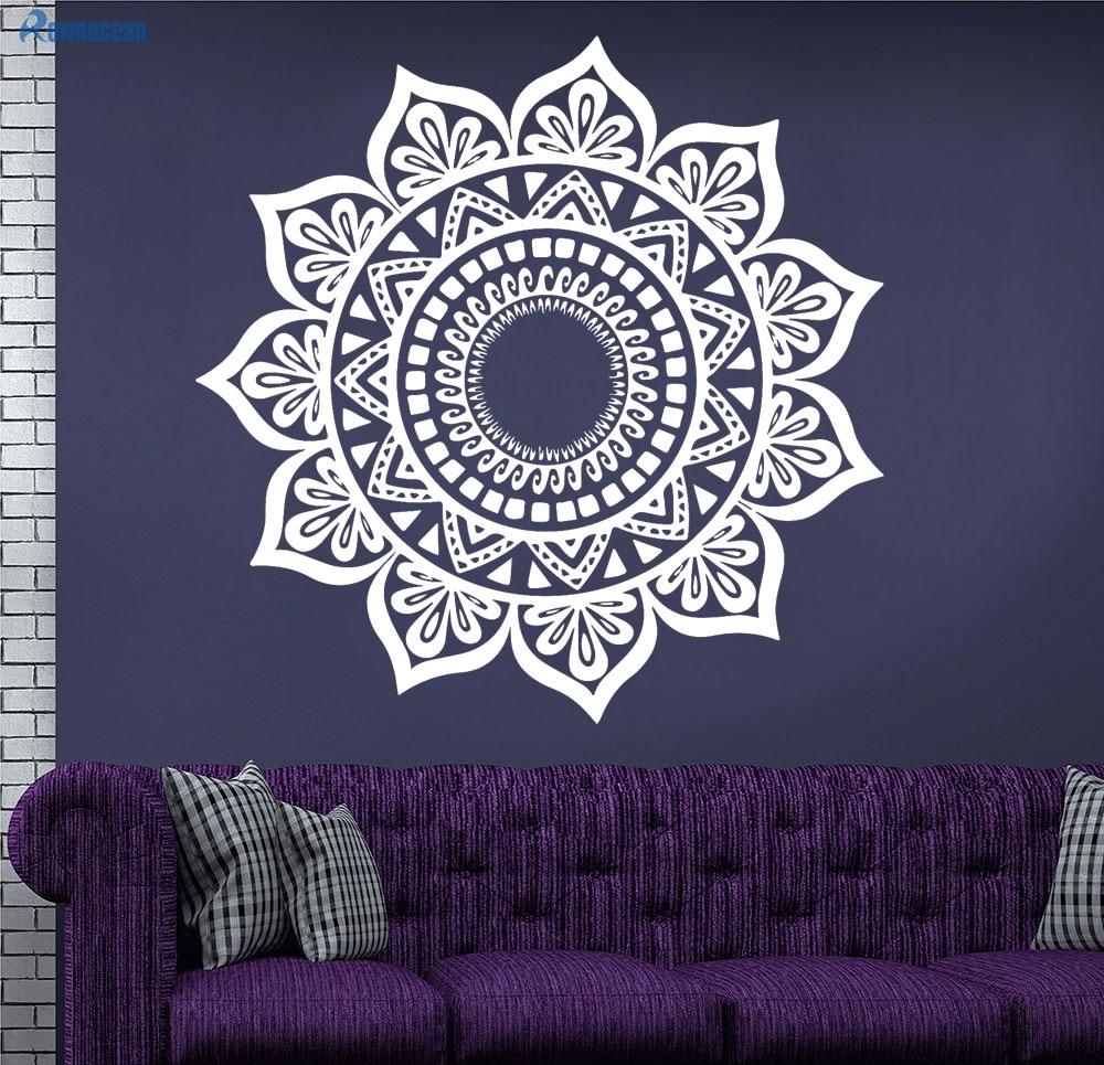 Custom Color Mandala Үнді Үстел Yoga Wall Stickers - Үйдің декоры - фото 1