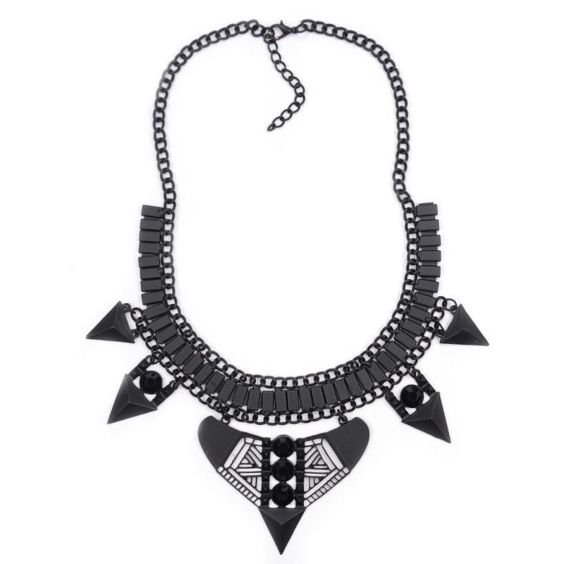 e204c790d7b1 Geometría diseño único negro COLLAR COLGANTE chunky collar babero  declaración para las mujeres Nueva joyería de moda al por mayor