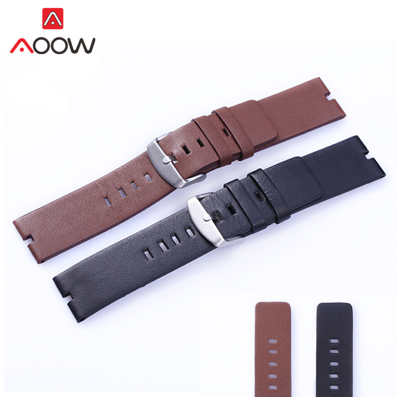 Leather Watchband For Moto 360 Black Brown 22mm Men Women Replacement Bracelet Band Strap For Motorola Moto360 Smart Watch