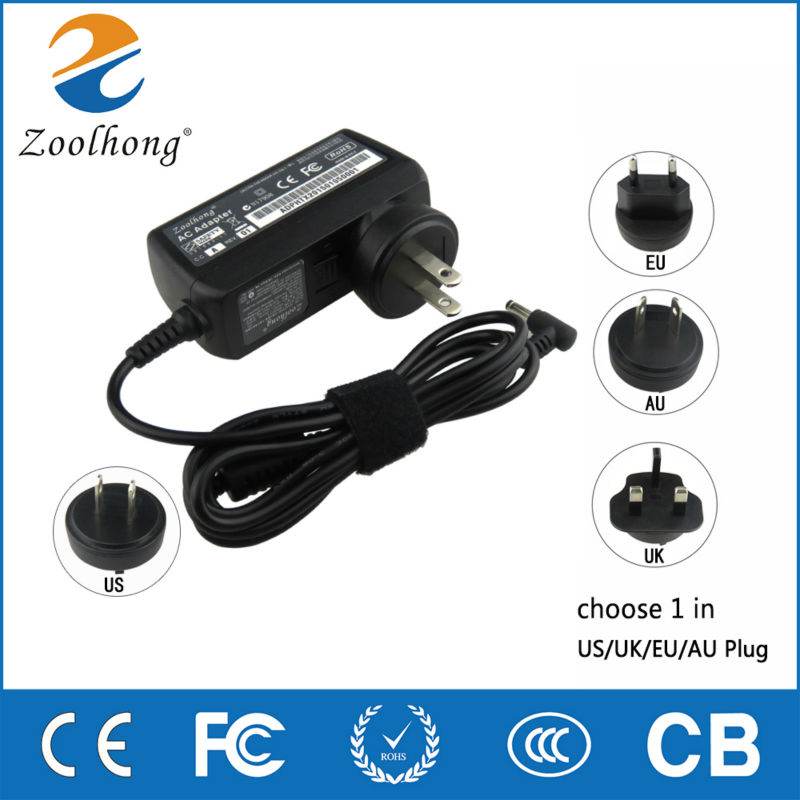 Zoolhong AC Adapter Charger For Asus S200E X201E X202E Ultrabook Power Supply 19V 19v 9 5a 19 5v 9 2a ac adapter tpc ba50 power charger for hp 200 5000 200 5100 200 5200 aio envy 23 1000 23 c000 23 c100 23 c200