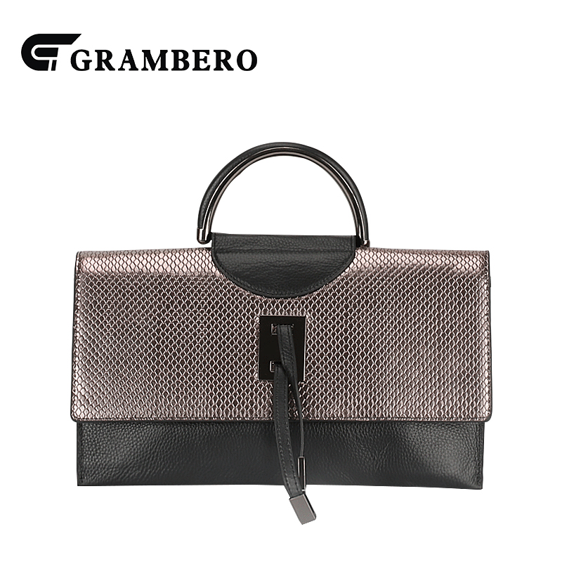 Fashion Champagne Gold Color Handbag Cowhide Leather Cover Shoulder Crossbody Bag Modern Women Banquet Top-handle Bags 2018 New 2017 120cm diy metal purse chain strap handle bag accessories shoulder crossbody bag handbag replacement fashion long chains new