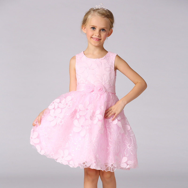 ФОТО Summer Clothes Flower Girls Dresses For Wedding Gowns Short  Kids Prom Dresses A-Line  Pageant Dresses for Little Girls