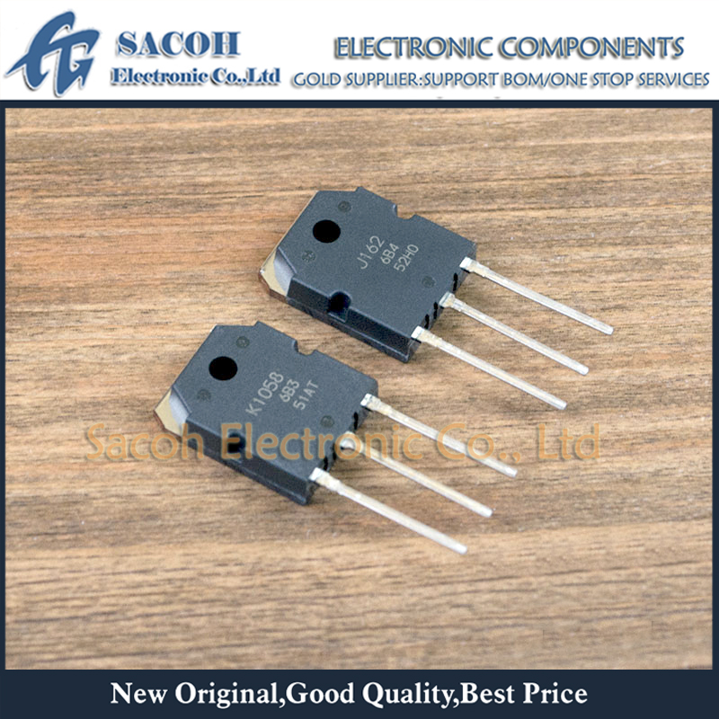 Free Shipping 2Pairs 2SK1058 K1058 2SJ162 J162 TO-3P 7A 160V Complementary Pair Silicon N Channel MOSFET