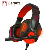 Magift Gaming Headset Earphone Sound Effect Deep Bass Computer Game Headphones With Microphone LED Light For