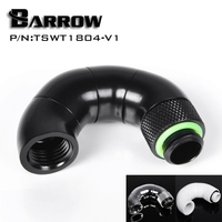 Barrow Black Four Rotary Snake Style Dual G1 4 Adapter