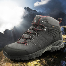 Clorts Hiking Boots Outdoor Climbing Boots Waterproof Cow Suede Hunting Boots No