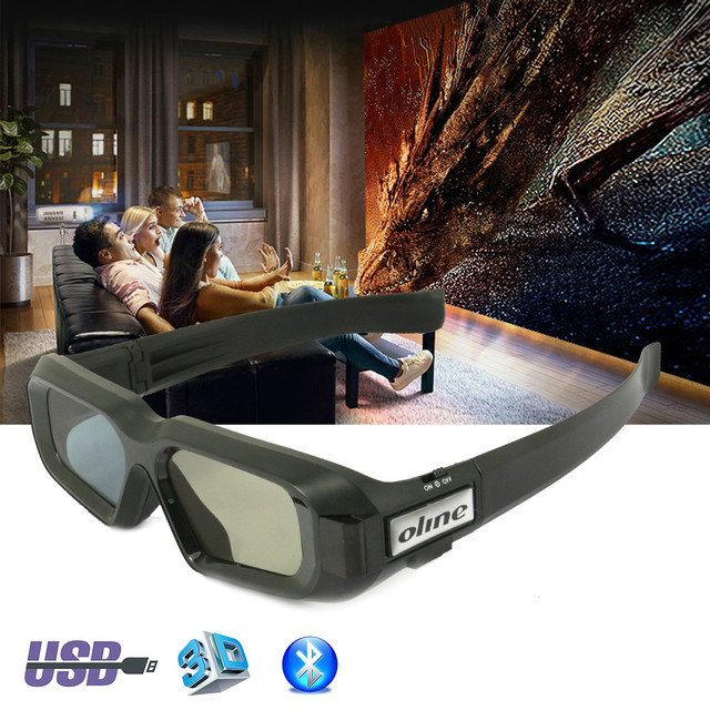 61066233413 CAIWEI 3D TV Glasses USB Rechargeable Bluetooth Active Shutter 3D Glasses  For Samsung Sharp VIZIO TV Epson 3LCD Projector