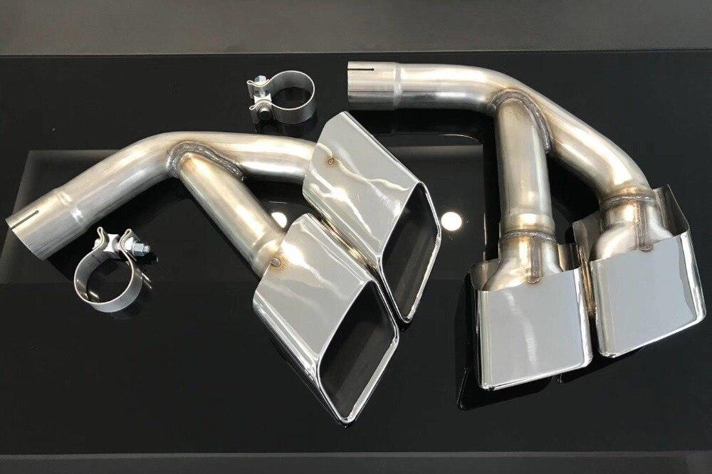 Un paio di in acciaio inox di scarico punta del silenziatore per il nuovo 17-18 Q7 modificare per SQ7 quadrata a quattro punte black & silver marmitta tubo di codaUn paio di in acciaio inox di scarico punta del silenziatore per il nuovo 17-18 Q7 modificare per SQ7 quadrata a quattro punte black & silver marmitta tubo di coda