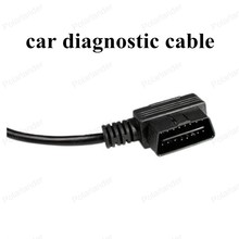 hot sell One with Two 90 Degree 16 Pin Diagnostic Extension Car diagnostic tools car-detector OBD Cable