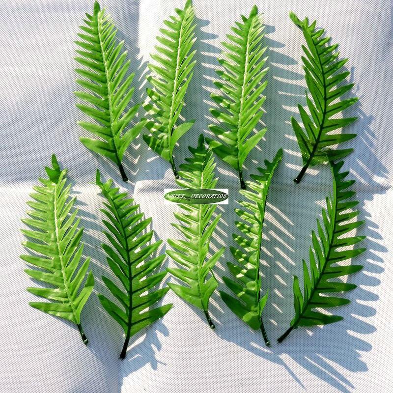 Christmas Party 21cm 60pcs Artificial Palm Fake Foliage Plant Fern