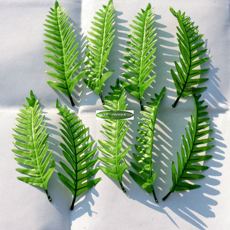 Christmas Party 21cm 60pcs Artificial Palm Fake Foliage