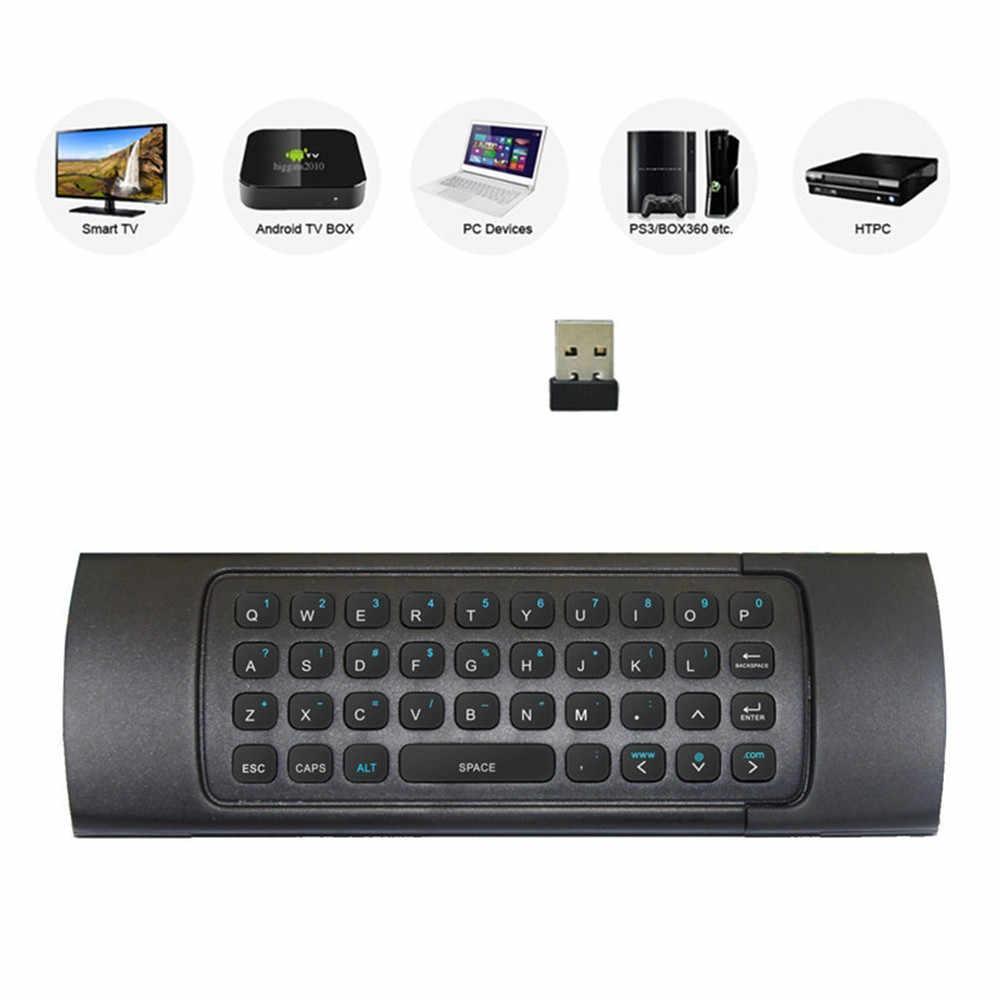 AMOBSAT MX3 2.4G sans fil clavier contrôleur télécommande Air souris pour Smart Android 7.1 TV Box x96 mini s905w tx3 tvbox