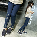 Girl 's jeans 2016 autumn new Korean girl long pants big-girl children elastic small feet pants