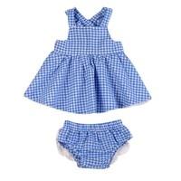 2017 Summer Cute Baby Girls Clothes 3 24M Newborn Infant Bebes Plain Mini Dress PP Short