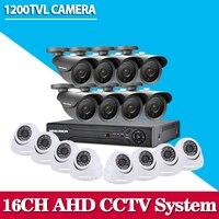 16 Channel Sony 1200TVL Video Surveillance Security Camera System H 264 DVR Recorder 16ch CCTV Dvr