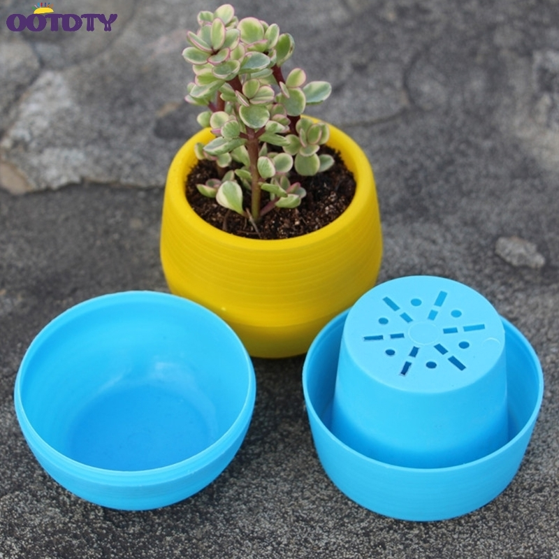 Detail Feedback Questions About 5pcs Flower Pot Colour Gloss Plastic