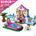 Banbao 6109 405 unids Fantastic House bloques juguetes para las niñas de plástico Building Block Sets Educational DIY juguetes de los ladrillos
