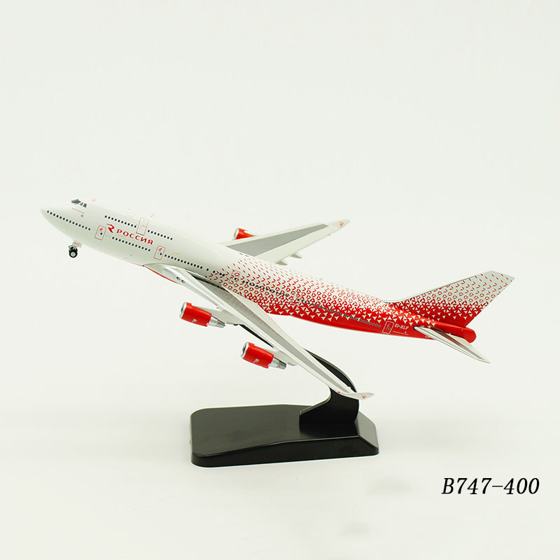 1:400 Scale Boeing B747-400 Planes Model Airplanes Rossiya Russia Airlines Alloy Aircraft Plane Collectible Model Collection