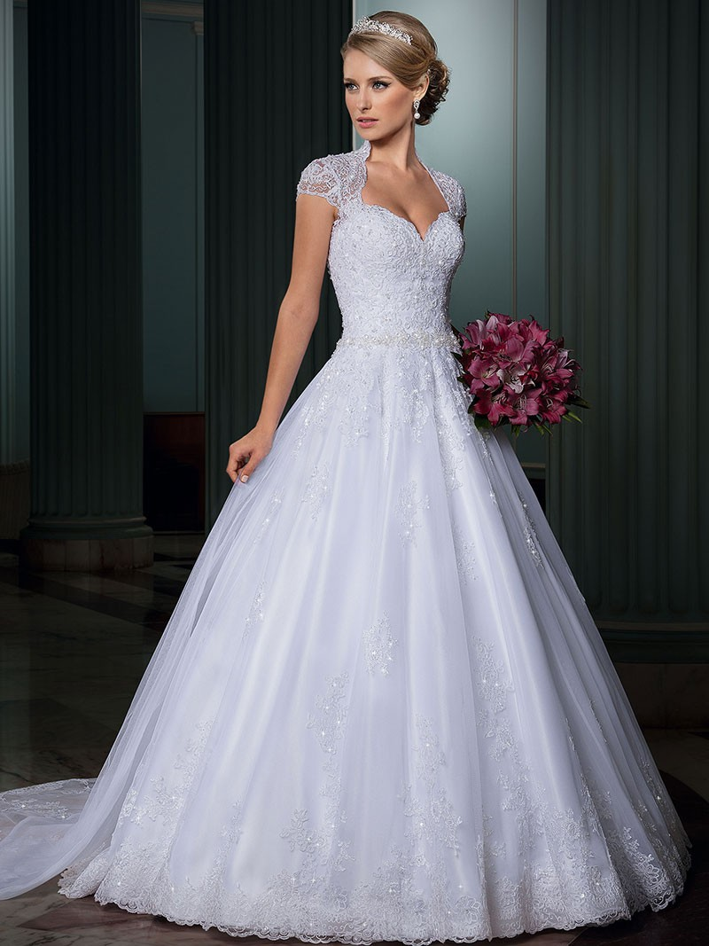 Vestido de Baile Aberto Para Trás Vestidos de Noiva de Renda de Luxo 2014 Vestidos de Noiva Importados vestido de noiva Vestido Casamento Vestido De Noiva