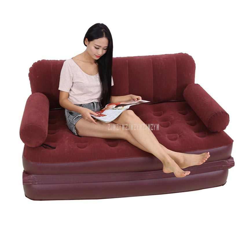 Многофункциональный портативный воздушный надувной диван кровать Outddor мебель для дома, спальни, садовый диван для 2 человек с воздушным насосом YT-142