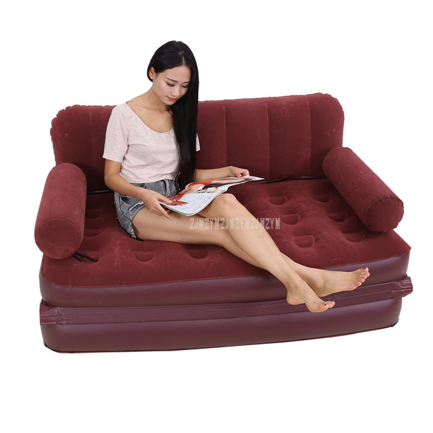 Furniture Multifunctional Portable Air Inflatable Sofa Bed Outddor Furniture Home Bedroom Garden Sofa For 2 Person With Air Pump Yt-142