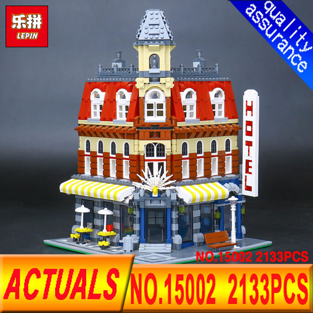 LEPIN 15002 Cafe Corner Model Building 2133Pcs  Kits Blocks Kid Toy Gift Compatible With 10182 lepin 22001 pirate ship imperial warships model building kits blocks 1717pcs brick toy compatible with lepin 10210