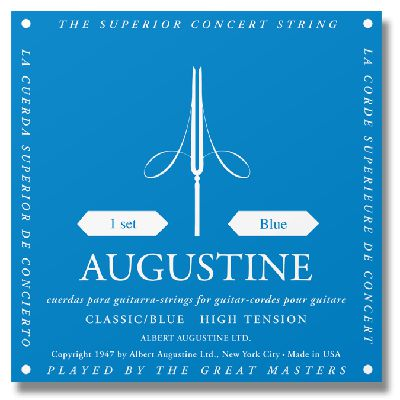 Augustine Classic Blue High Tension Classical Guitar Strings classical guitar strings set cgn10 classic nylon silver plated normal tension 028 045 classical guitar strings 6strings set