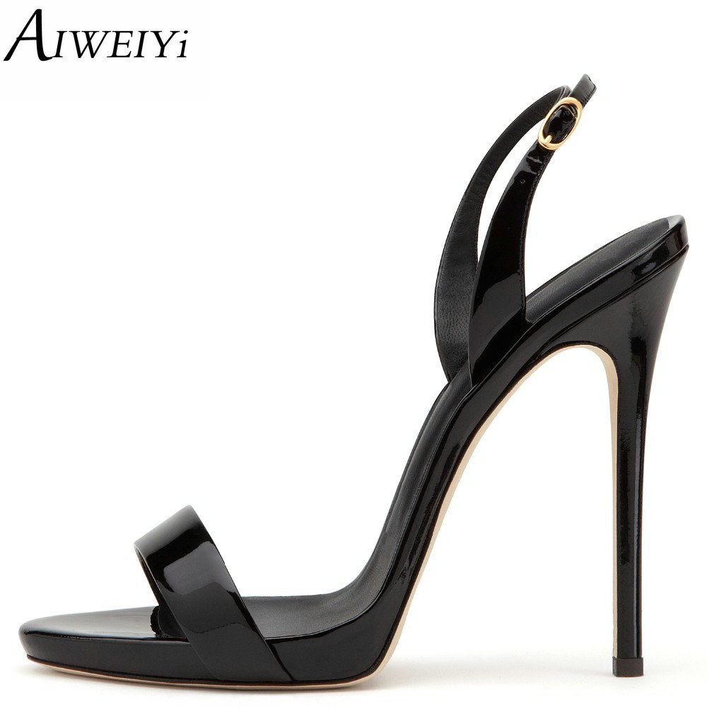 AIWEIYi Gladiator Sandal Shoes for Women Summer Stiletto Heel Sandals Open toe Platform Pumps Buckle Strap High Heel Sandals xiaying smile summer new woman sandals platform women pumps buckle strap high square heel fashion casual flock lady women shoes