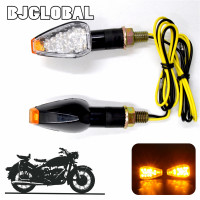 12V Mini Led Motorcycle Turn Signal E mark Lights 15 LEDs Indiators Lamp Flashers Flashing Blinker Carbon Fiber Housing Bright