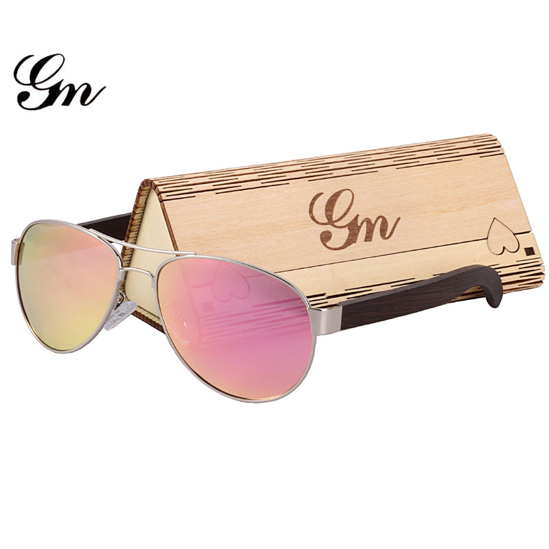 G M бамбук, дерево, металл Солнцезащитные очки для женщин Элитный бренд модная Очки и коробка