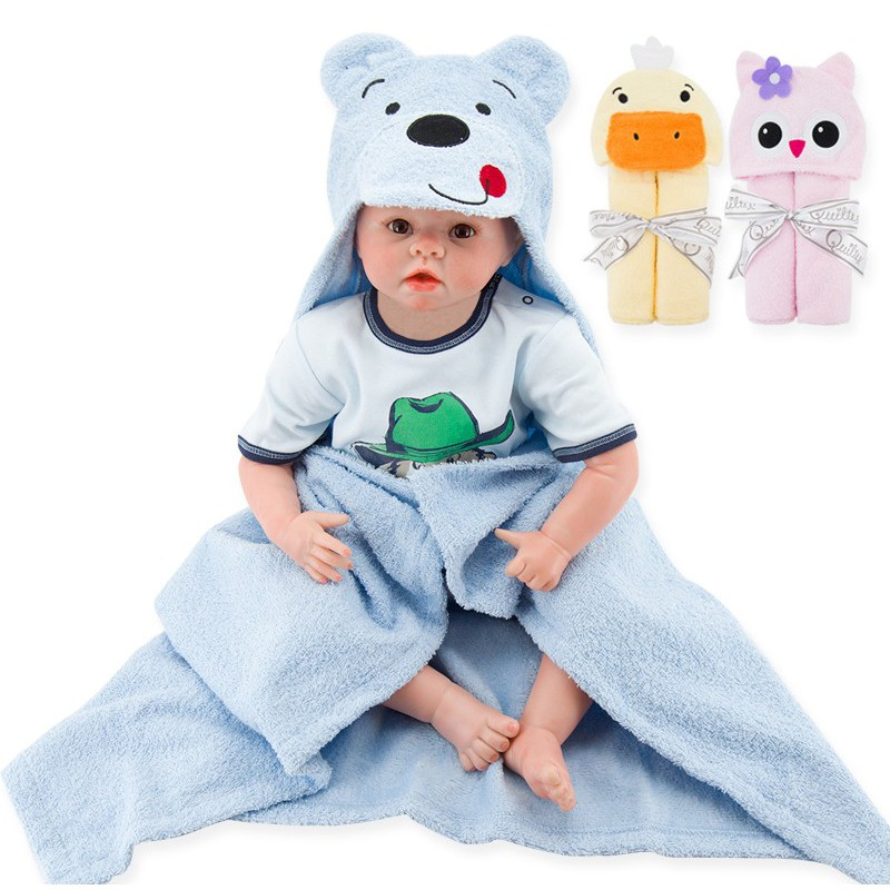 Hot Sales 3 Styles Cartoon Hooded Animal Baby Bathrobe Cartoon Baby Towel Character Kids Bath Robe Infant Towel (13)