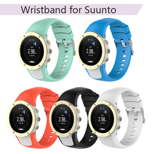 Sports Watch Band Silicone Strap for Suunto Spartan Trainer Wrist HR Wristband Replacement for Suunto Traverse Series with Tools silicone replacement watch strap band for suunto spartan trainer trainer wrist hr sports watch replace watch strap with tools