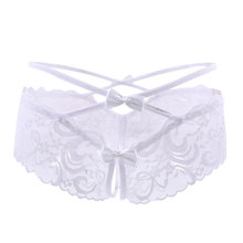 Women's Floral Lace Criss Cross Style Panties